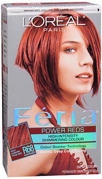 L'Oreal Feria - R68 Ruby Rush (Rich Auburn True Red) (Warmer)