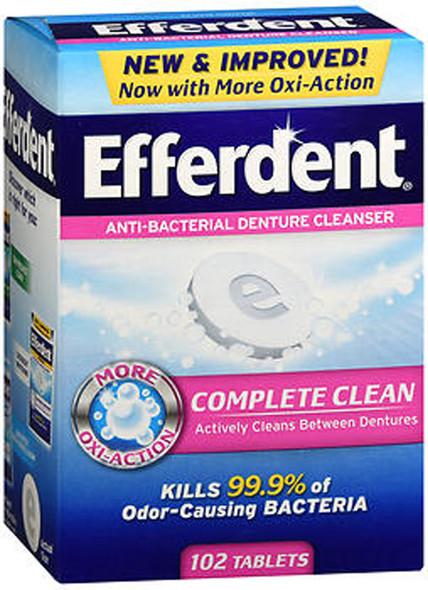 Efferdent Anti-Bacterial Denture Cleanser Tablets - 102 ct