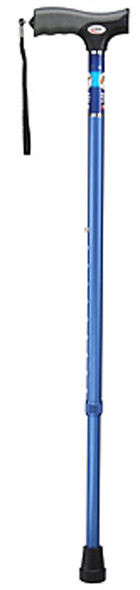 Carex Adjustable Cane, Metalic Blue - 1 ea