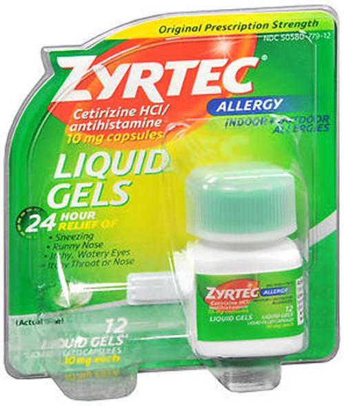 Zyrtec Allergy 10 mg Liquid Gels - 12 ct