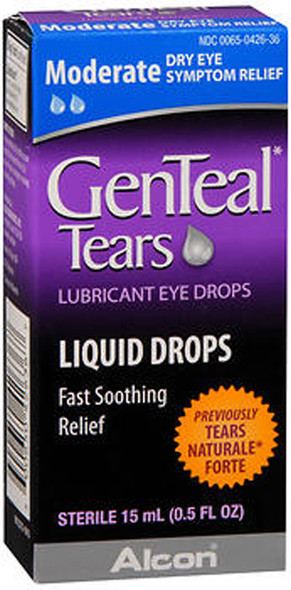 GenTeal Lubricant Eye Drops Moderate - .5 FL OZ