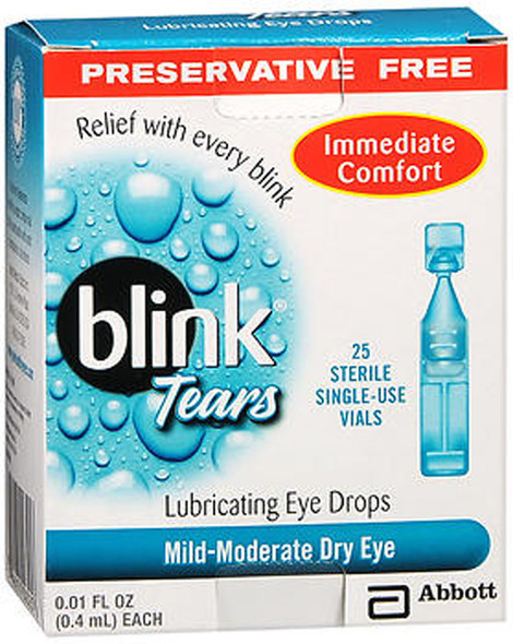 Blink Tears Lubricating Eye Drops Mild-Moderate Dry Eye, 25 Pk - 0.01 oz