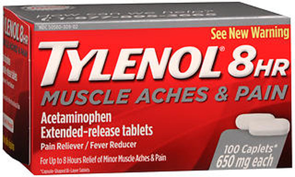 Tylenol 8HR Muscle Aches & Pain Extended-Release Tablets - 100 ct