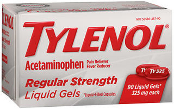 Tylenol Regular Strength Liquid Gels - 90 ct
