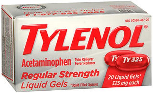 Tylenol Acetaminophen Regular Strength Liquid Gels - 20 ct