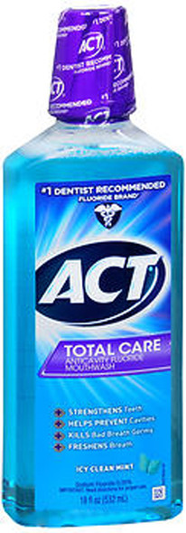 Act Total Care Anticavity Fluoride Mouthwash Icy Clean Mint - 18 oz