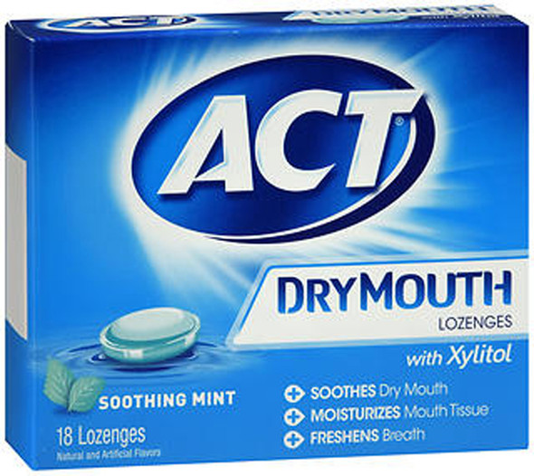 Act Dry Mouth Lozenges with Xylitol, Mint -18 count
