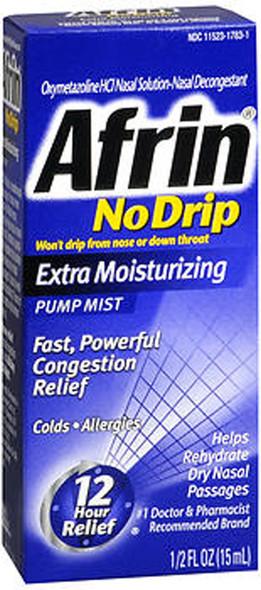 Afrin 12 Hour No Drip Pump Mist Extra Moisturizing - 0.5 oz