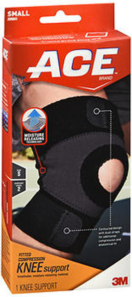 Ace Moisture Control Knee Support Small, Moderate Support - Each