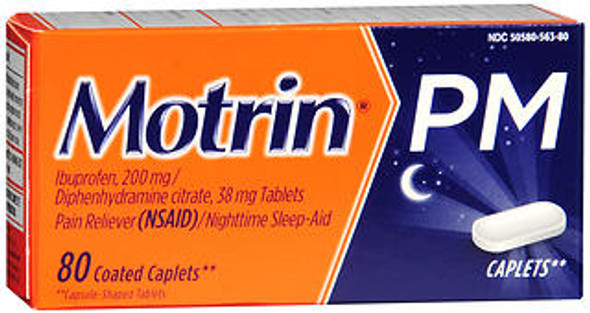 The Motrin PM Ibuprofen 200mg - 80 Coated Caplets from The Online Drugstore