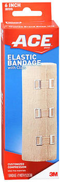 Ace Elastic Bandage with Clips 6-Inch