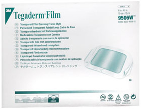 "3M Tegaderm Film, 4X4.8"" Dressings - 10ct"