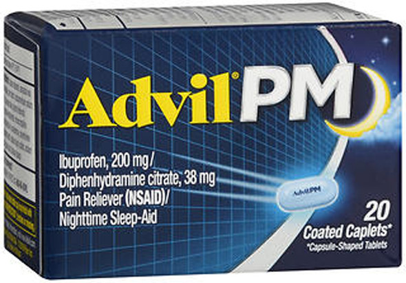 Advil PM - 20 Coated Caplets