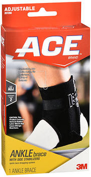 Ace Ankle Brace with Side Stabilizers Adjustable - 1 each