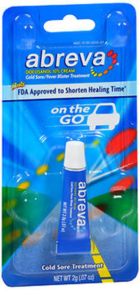 Abreva Cold Sore/Fever Blister Treatment, On the Go - .07 oz