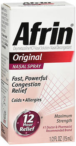 Afrin Nasal Spray Original - 0.5 oz