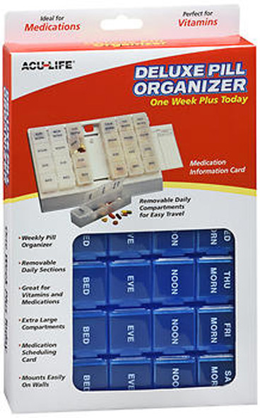 Acu-Life Deluxe Pill Organizer One Week Plus Today  - 1 Each