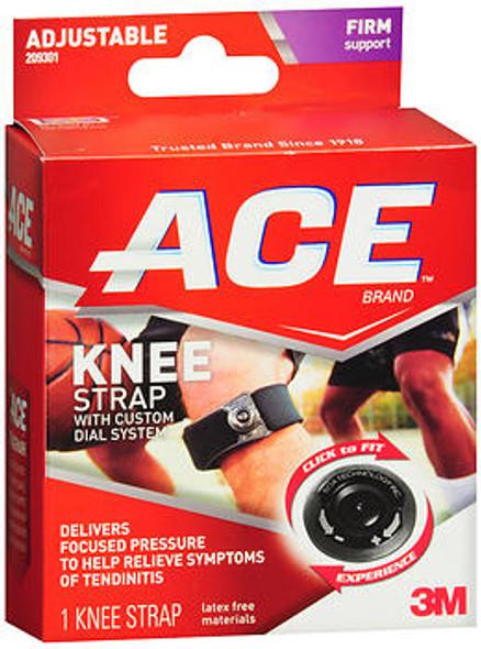 Ace Adjustable Knee Strap Black - Each