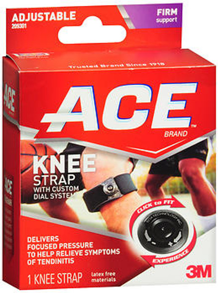 Ace Adjustable Knee Strap Black - Each