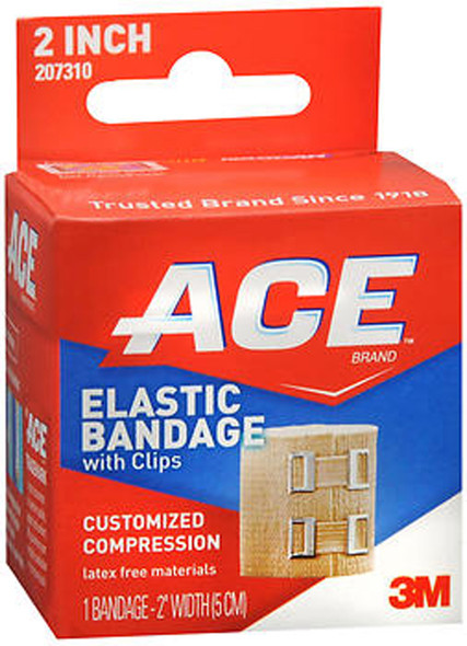 Ace Elastic Bandage with Clips 2 Inch.