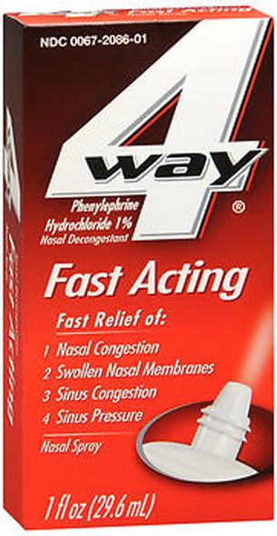 4 Way Fast Acting Nasal Spray - 1 oz