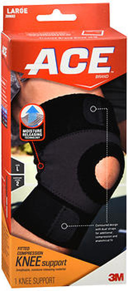 Ace Moisture Control Knee Support Large, Moderate Support - Each