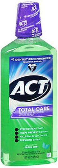 Act Total Care Anticavity Fluoride Mouthwash Fresh Mint - 18 oz