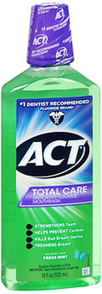 Act Total Care Anticavity Fluoride Mouthwash Fresh Mint - 18 oz