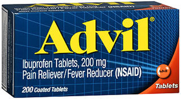 Advil Ibuprofen Pain Reliever/Fever Reducer, 200 mg Coated Tablets - 200 ct