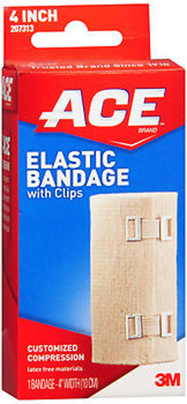 Ace Elastic Bandage with Clips 4 Inch