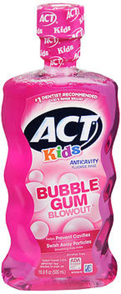Act Kids Anticavity Fluoride Rinse Bubble Gum Blow Out - 16.9 oz