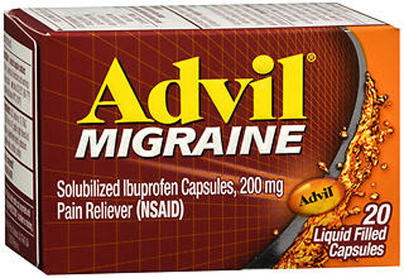 Advil Migraine Liquid Filled Capsules - 20 ct