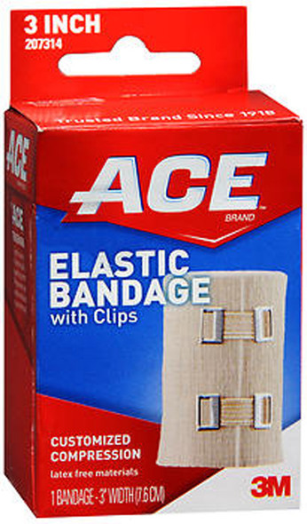 Ace Elastic Bandage with Clips 3 Inch