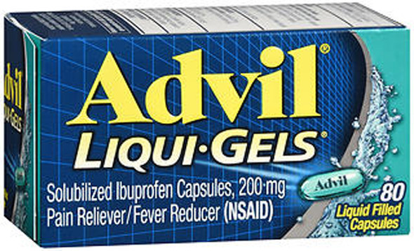 Advil Pain Reliever/Fever Reducer Liqui-Gels, 200 mg - 80 ct
