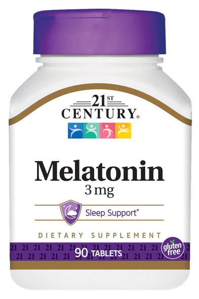 21st Century Melatonin 3 mg - 90 Tablets
