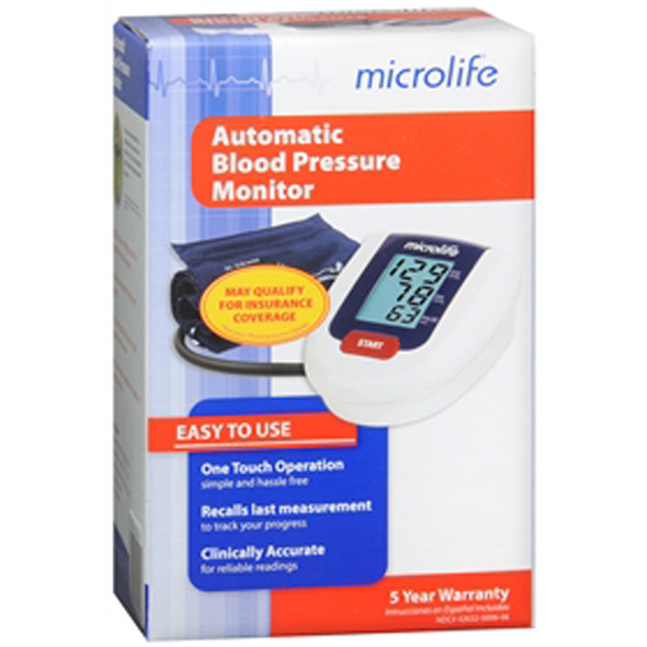 Microlife Automatic Blood Pressure Monitor -1 each