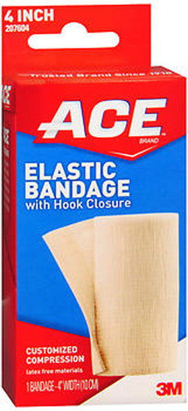 Ace Elastic Bandage with Hook Closure 4 Inch - #207604