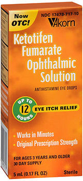 Akorn Ketotifen Fumarate Ophthalmic Solution 5ml - 1 Each