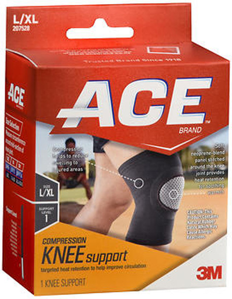 Ace Elasto-Preene Knee Support Black - L/XL Mild Support