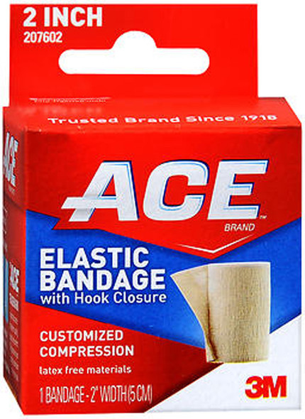 Ace Elastic Bandage with Hook Closure 2 Inch