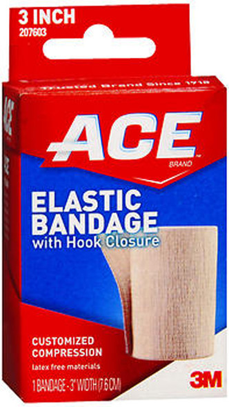 "Ace Elastic Bandage with Hook Closure 3"" Width"