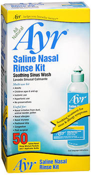 Ayr Saline Nasal Rinse Kit - 1 Bottle, 50 Refills