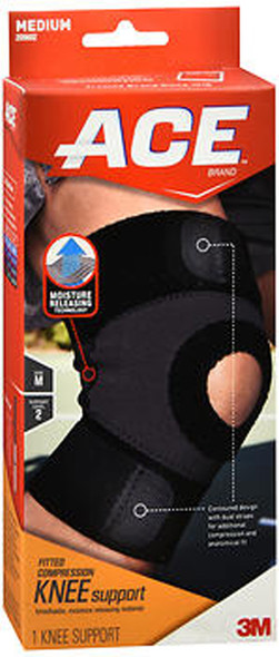 Ace Moisture Control Knee Support Medium, Moderate Support - Each