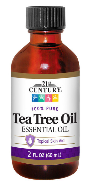An image of a bottle of Tea Tree Oil essential oil from 21st Century, available at The Online Drugstore.