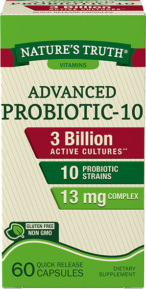 Nature's Truth Probiotic-10 Quick Release Capsules - 60 ct