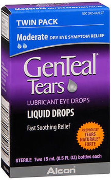 GenTeal Lubricant Eye Drops Moderate - 1 fl oz