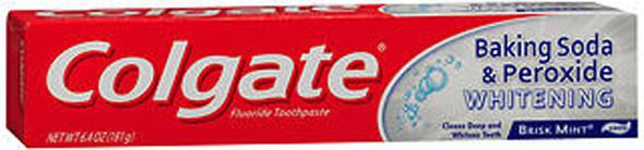 Colgate Baking Soda & Peroxide Whitening Toothpaste Brisk Mint - 6 oz