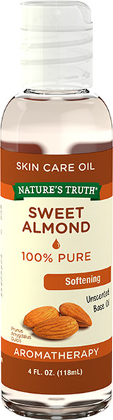Nature's Truth Aromatherapy 100% Pure Sweet Almond Base Oil - 4 oz