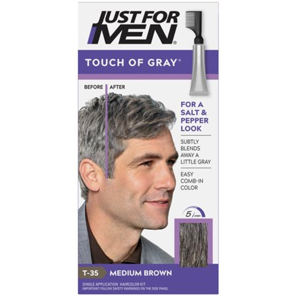 Just For Men Touch Of Gray Hair Color T-35 Medium Brown A-35 - 1 ea