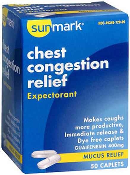 Sunmark Chest Congestion Relief Caplets - 50 ct